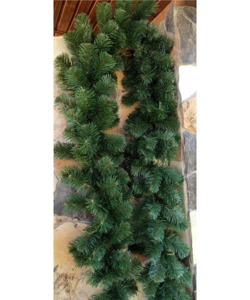Хвойная зелёная гирлянда 3 м ,30 см в диаметре