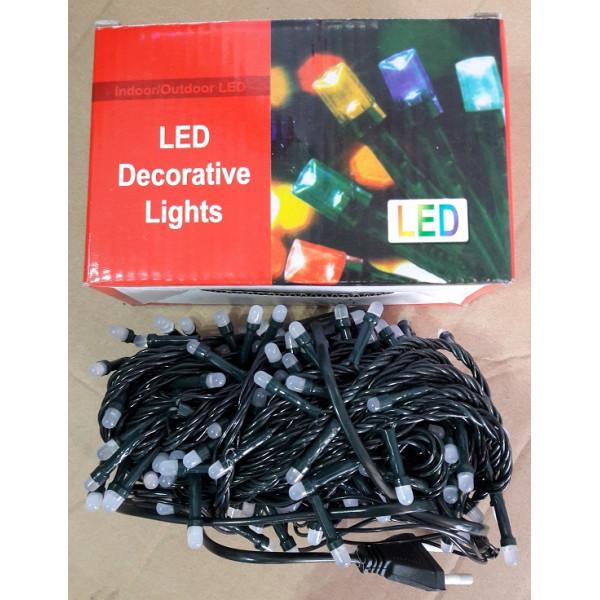 Гирлянда цветная 4 цвета на 200 лампочек 8 функций 4 м Г-133